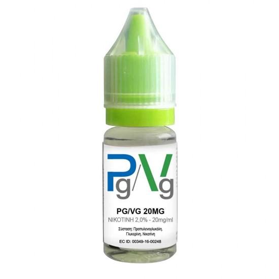 Pg/Vg Nicotine Base 10ml 20mg